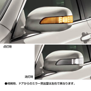 Side turn lamp attaching door mirror