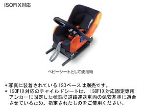 Baby seat (NEO G−CHILD ISO baby)/seat base (NEO ISO base)