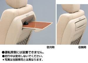 Seat back table (built-in type)