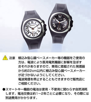 Key integrated watch (C071 (black) /C072 (white))