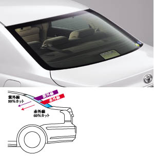 Rear sun shade (IR cutting type)