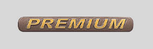 Gold emblem (grademark (for rear) PREMIUM)
