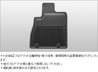Rubber mat (snow type) (front set)