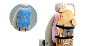 Baby buggy holder (blue) (pink)