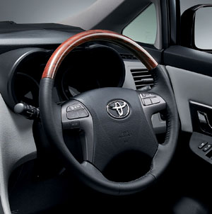 Wood pitch steering wheel