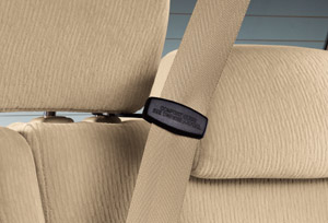 Rear seat belt hook