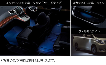 The chart it is not irumisetsuto (the blue) interior illumination (2 mode type blues)/the well cam light/write (set item (driver's seat suicide seat))/Scuff illumination (the blue) the chart it is not irumisetsuto (white)/interior illumination (2 mode type white)/the well cam light/write (the set item (the driver's seat suicide seat))/Scuff illumination (white)