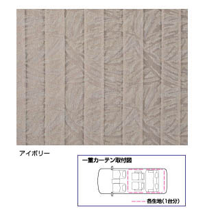 Interior curtain (single) (formal pleat)