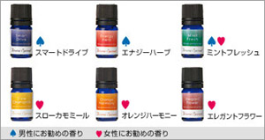 Aroma spread essential oil (smart drive) (energy herb) (mint fresh) (slow duck meal) (orange harmony) (elegant flower)