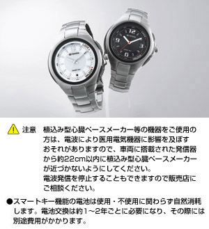 Key integrated watch [D061 (black) /D062 (white)]