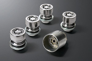 Reverse key wheel nut