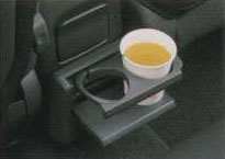 Rear cockpit cup holder