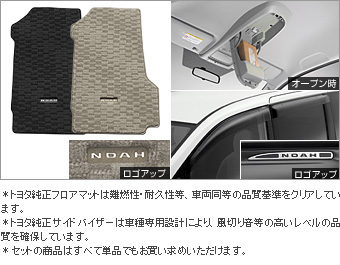 BASIC set (type 2) (YY) (YY which is excluded) the BASIC item (the set item (the overhead console))(Floor mat (deluxe))(Side visor (RV type))