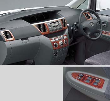 Wood pitch panel [Chaki eye] (for center cluster) (for heater control) (for register) (for suitsuchibesu hurontodoa)