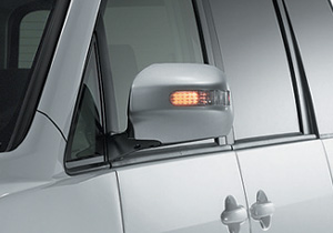 Turn lamp attaching door mirror cover