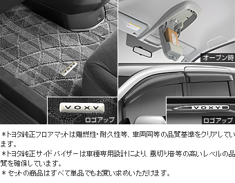 BASIC set (type 1) (TRANS-X) (TRANS-X which is excluded) the BASIC item (the set item (the overhead console))(Floor mat (luxury))(Side visor (RV type))