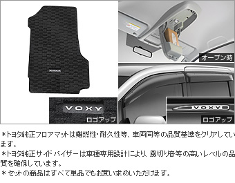 BASIC set (type 2) (TRANS-X) (TRANS-X which is excluded) the BASIC item (the set item (the overhead console))(Floor mat (deluxe))(Side visor (RV type))