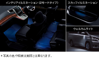The chart it is not irumisetsuto (the blue) interior illumination (2 mode type blues)/the well cam light/write (the set item (the driver's seat suicide seat))/Scuff illumination (the blue) the chart it is not irumisetsuto (white) interior illumination (2 mode type white)/the well cam light/write (the set item (the driver's seat suicide seat))/Scuff illumination (white)