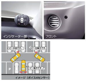 Corner sensor (voice (4 sensors)) (Front left and right) (rear left and right)