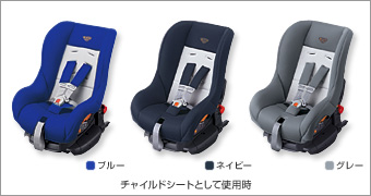 Child seat (G−ChildISOtether (blue/navy/gray))