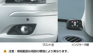 Corner sensor (front/rear left and right)