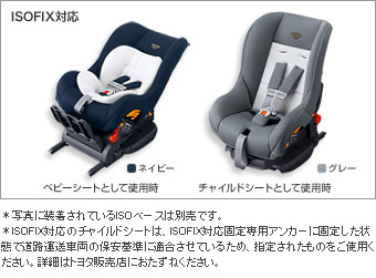Seat base (G−Child ISO base (tezataipu))/Child seat (G−ChildISOtether (blue/navy/gray))