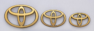 Gold emblem (the Toyota symbol (for rear))