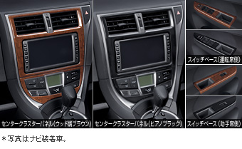 Interior panel (wood pitch Brown) (piano black)