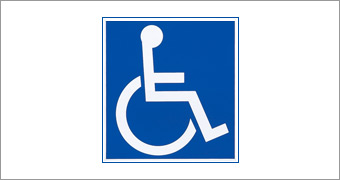Disabled person sticker