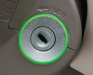 Ignition key illumination