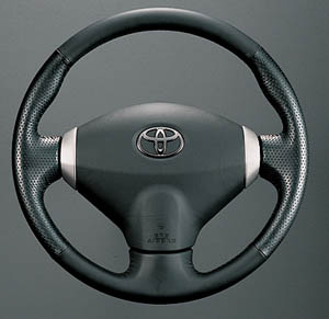 Leather volume steering wheel