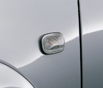 Clear side turn lamp
