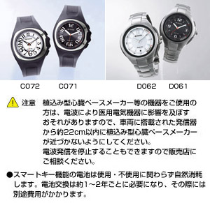 Key integrated watch [D061 (black) /D062 (white) /C071 (black) /C072 (white)]