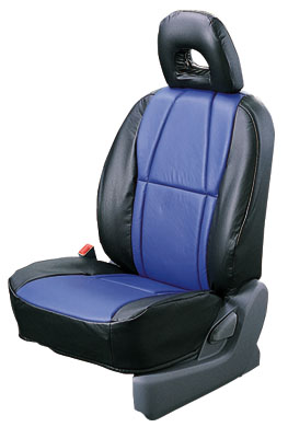 Leather pitch seat cover