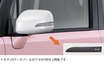 Door mirror cover (pearl white)