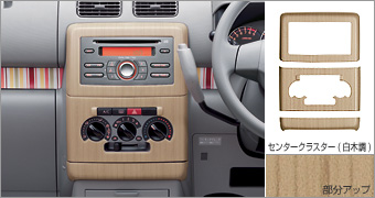 Interior panel (center cluster plain wood pitch)