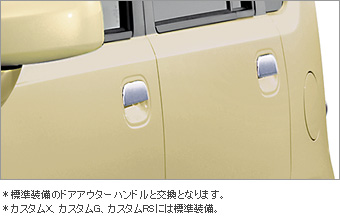 Plated door handle (outside)