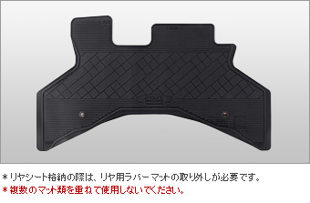 Rubber mat (one unit) (front)