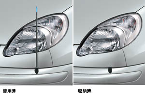 Fender lamp (electromotive remote control expansion and contraction system [front automatic/manual type])