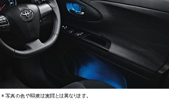 Door handle &amp\; pocket illuminational door handle &amp\; pocket illumination (front)/primer