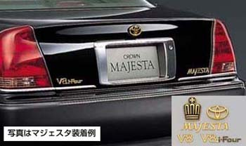 Gold emblem [24 gold-plating types] (the Toyota symbol (for rear)) (Model symbol mark &lt\; crown mark &gt\;) (car name logograph (for rear) &lt\;MAJESTA&gt\;) (&lt\;V8&gt\;) (&lt\;V8i−Four&gt\;)
