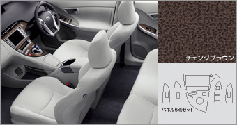 Interior panel set (change Brown) interior panel (set item) (chienjiburaun sentakurasuta)